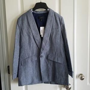 NEW! J Crew Unstructured blazer in cotton-linen